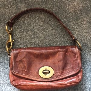 Coach Legacy Whiskey Leather Purse